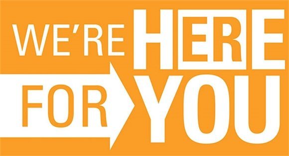We're here for you image