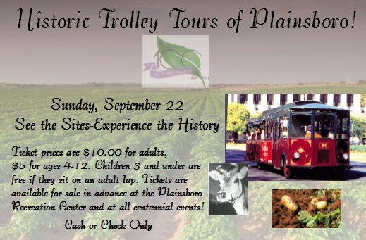 Historic Trolley Tours of Plainsboro!