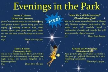 Evenings in the Park Flyer