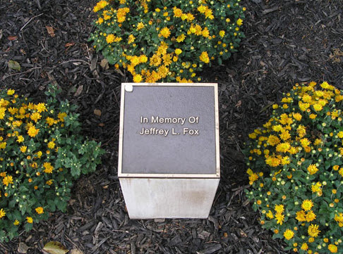 Jeffrey Fox Memorial Plaque