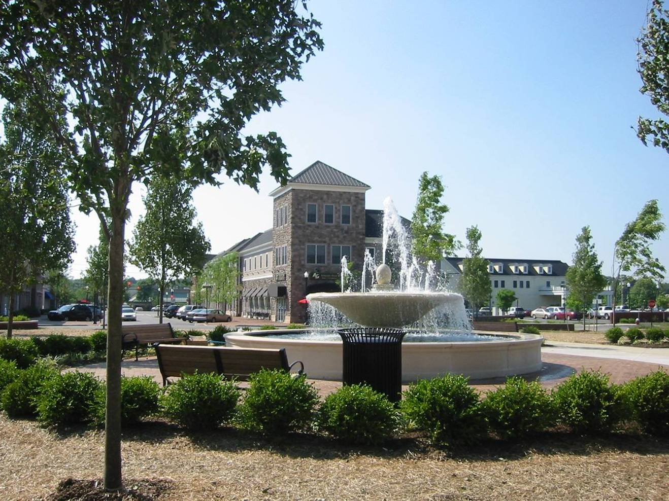 Village Center Plaza and Fountains